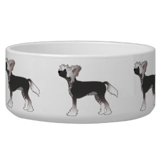 Chinese Crested Toy Dog Basic Breed Illustration Bowl