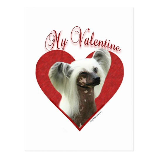 Chinese Crested True Love Postcard