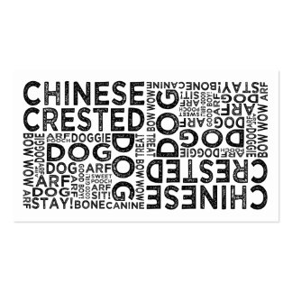Chinese Crested Typography Business Cards