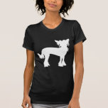 Chinese Crested White Silhouette Tee Shirt