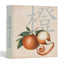 Chinese Cuisine Notebook Binder Vintage