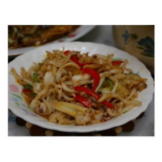 Chinese Cuisine Post Card - Calamari