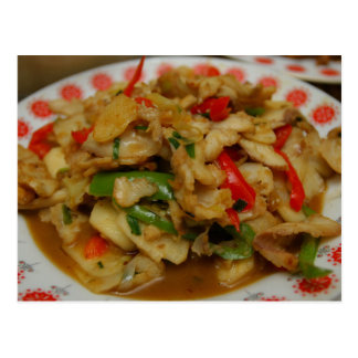 Chinese Cuisine Post Card - Sliced Snakehead