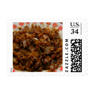Chinese Cuisine postage stamp - Beef tendon