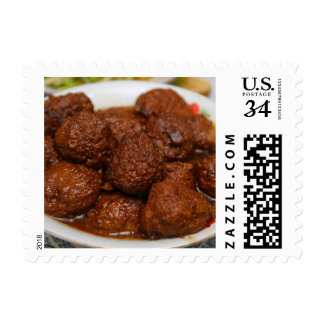 Chinese Cuisine Postage Stamp - Meat ball