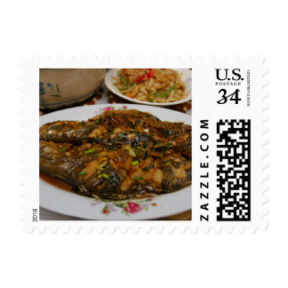 Chinese Cuisine Postage Stamps - Stirfried Perch