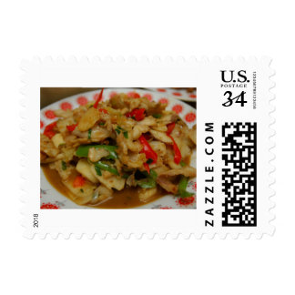 Chinese Cuisine - Sliced Snakehead Fish Postage Stamps