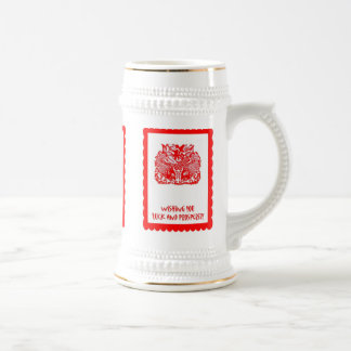 Chinese cutwork, Traditional emblem Beer Stein