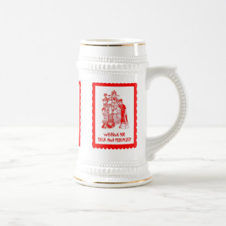 Chinese cutwork, Traditional People Beer Stein