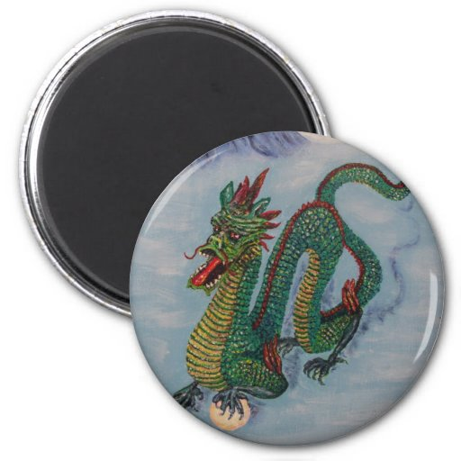 Chinese Destiny Dragon 2 Inch Round Magnet