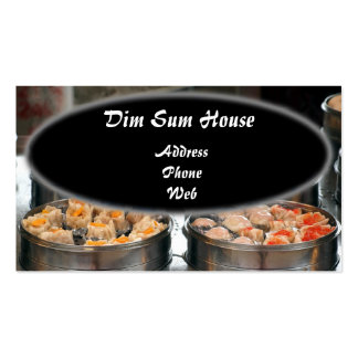 Chinese Dim Sum Dishes in Metal Steamers Double-Sided Standard Business Cards (Pack Of 100)