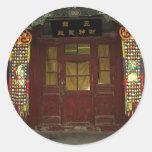Chinese Door Round Sticker