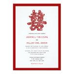 Chinese Double Happiness Logo Wedding Invitation Invite