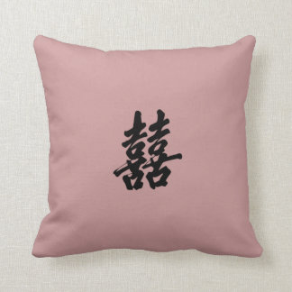 Chinese Double Happiness Symbol Products Throw Pillow