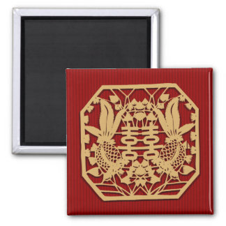 Chinese double happiness wedding  magnet