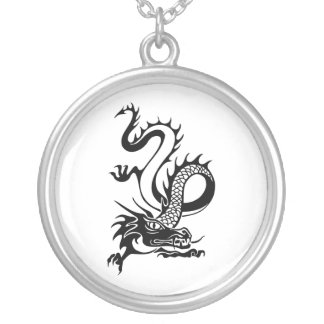 Chinese Dragon (13) Silver Plated Necklace