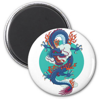 Chinese Dragon 2 Inch Round Magnet