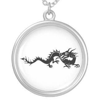 Chinese Dragon (9) Silver Plated Necklace
