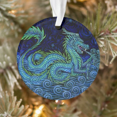 Chinese Dragon Acrylic Ornament