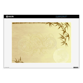 Chinese Dragon and Bamboo Laptop Decal
