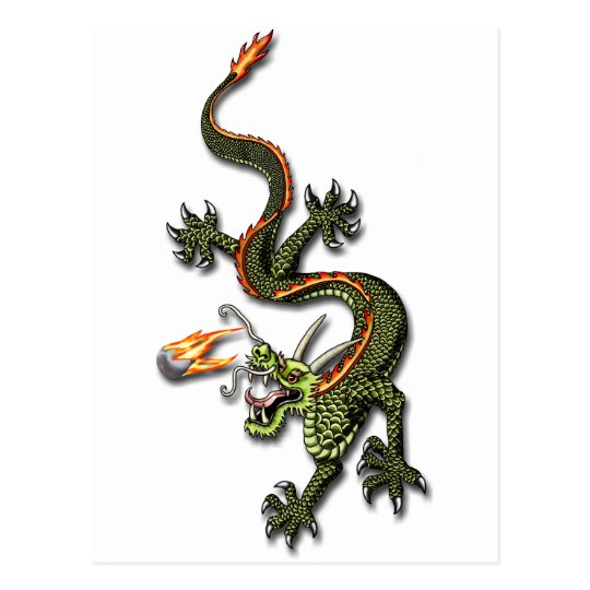 Chinese Dragon and Pearl Postcard