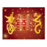 Chinese Dragon and Phoenix Postcard