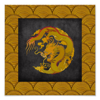 Chinese Dragon Art Poster Print Design 1