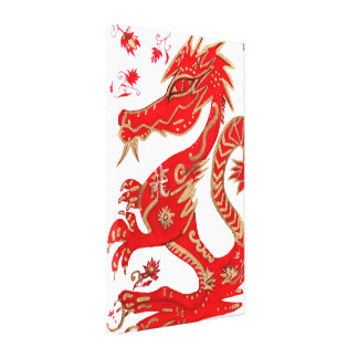 Chinese Dragon Astrology Wrapped Canvas, Canvas Print