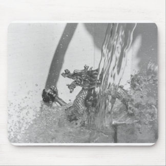 Chinese dragon black and white mouse pad