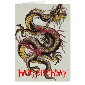 chinese-dragon-black, !HAPPY BIRTHDAY! Card