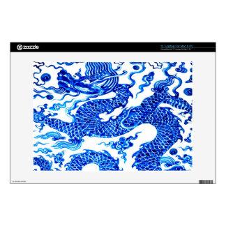 "Chinese Dragon Blue White China Vase Antique Skin For 13"" Laptop"