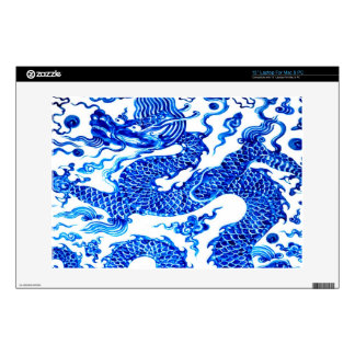 "Chinese Dragon Blue White China Vase Antique Skin For 13"" Laptop"