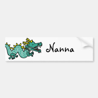 Chinese Dragon Bumper Sticker
