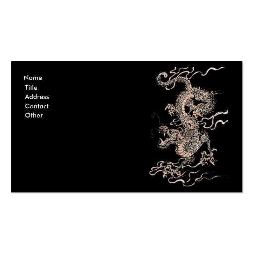 Chinese Dragon Business Card