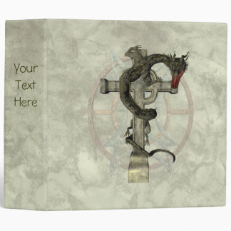 Chinese Dragon & Celtic Cross Binder