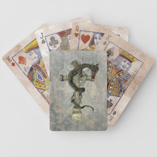 Chinese Dragon & Celtic Cross Playing Cards