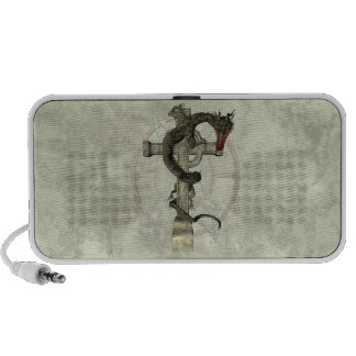 Chinese Dragon & Celtic Cross Mini Speaker