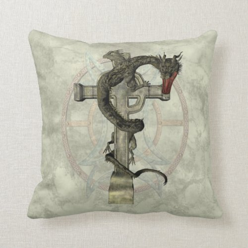 Chinese Dragon & Celtic Cross Throw