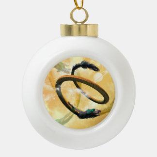 Chinese dragon ceramic ball christmas ornament