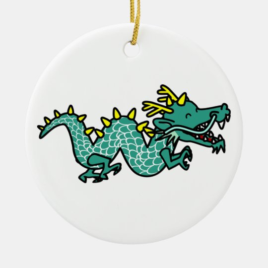 Chinese Dragon Ceramic Ornament
