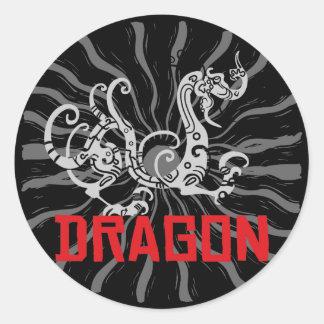 Chinese Dragon Chinese Zodiac Dragon Classic Round Sticker