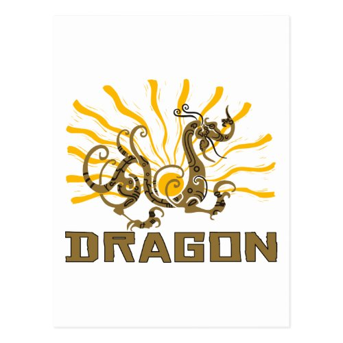 Chinese Dragon Chinese Zodiac Dragon T-Shirt Postcard Sales 3655