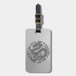 Chinese Dragon Circle with Stainless Steel Effect Bag Tag