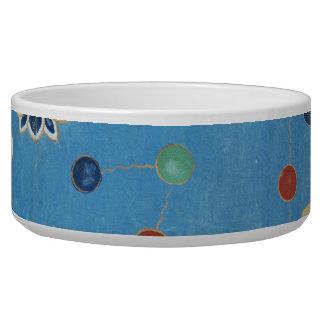 Chinese Dragon Colorful Dots Vintage Watercolor Bowl