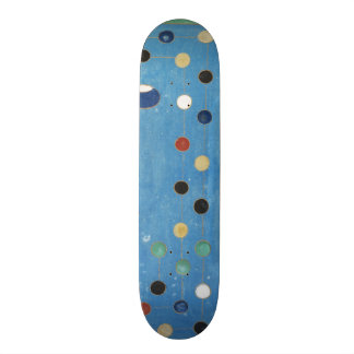 Chinese Dragon Colorful Dots Vintage Watercolor Skateboard
