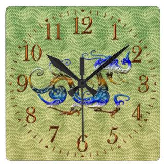 Chinese Dragon Fantasy Art Designer Gift Clock