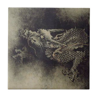 Chinese Dragon from Song Dynasty by Chen Rong Ceramic Tile