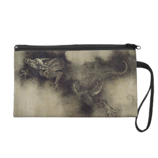 Chinese Dragon from Song Dynasty by Chen Rong Wristlet Purse