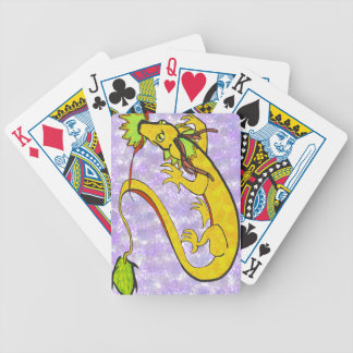 chinese dragon, gold and purple card decks