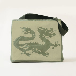 CHINESE DRAGON GOOD LUCK SYMBOL SUPER TOTE